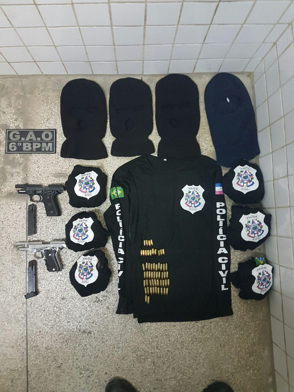 Grupo é preso com armas e camisas da Polícia Civil na Serra ...