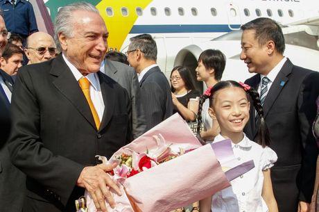 Temer chega à China para a reunião das maiores economias do ...