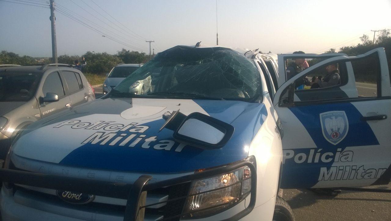 Viatura da Polícia Militar se envolve em acidente em Vila Velha ...