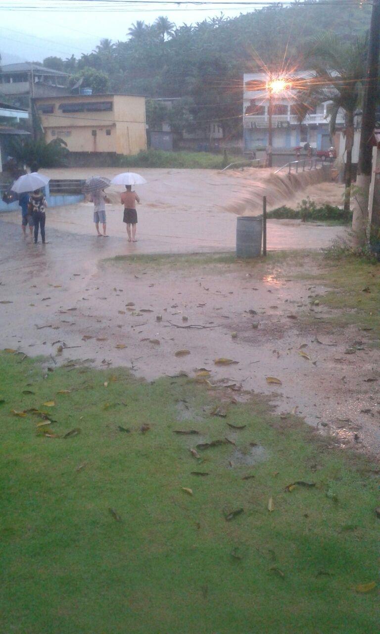 Estragos causados pela chuva no município de Iconha