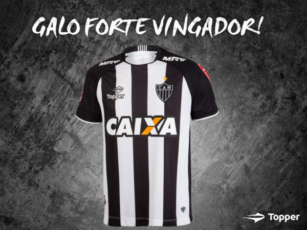 35930dc3d9 Esse uniforme será utilizado pelo Atlético-MG até março. Foto  Divulgação