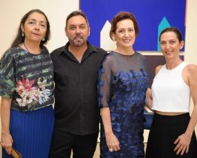 Foto de Sandra Matias, Rosa Oliveira, Marcus de Lontra e Sueli Faiçal. Foto Wanderson Lopes.