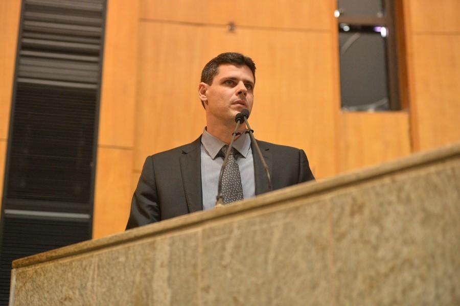 Bruno Funchal durante prestação de contas na Assembleia Legislativa