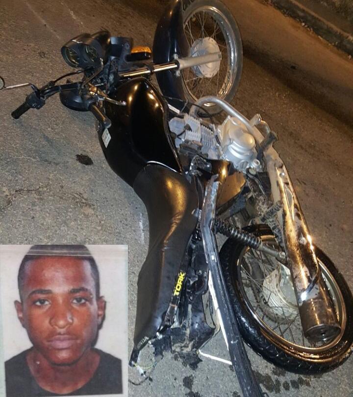 Wendel Fantino Faria conduzia a moto, quando foi derrubado pelo veículo e morto a tiros