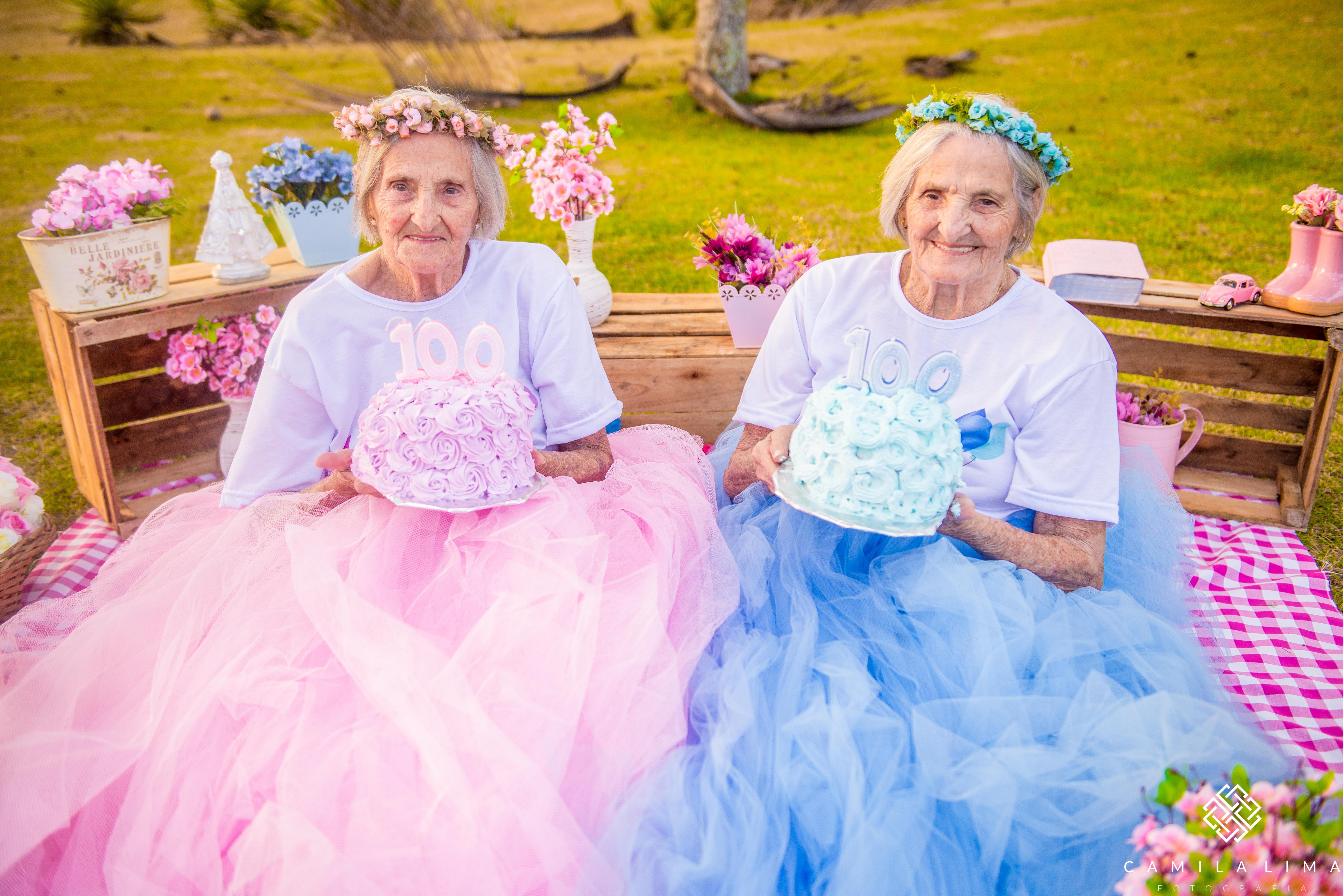 Gêmeas capixabas comemoram aniversário de 100 anos com ensaio fotográfico